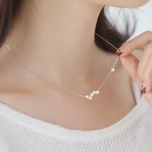 925 Sterling Silver Star Bar Necklace